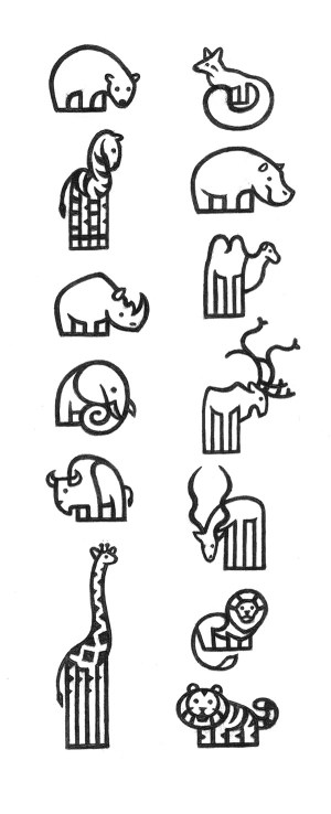 zoo pictograms behance jorge dias animal easy drawings drawing line simple animals draw logos tattoo unfollow following follow