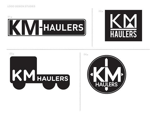 KM Haulers Logo Design on Behance