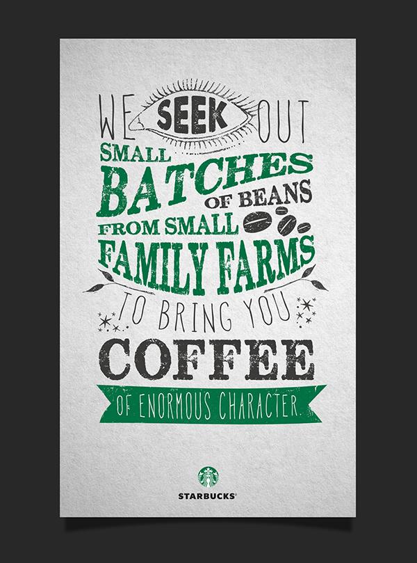 Starbucks Typographic Poster Design on Behance