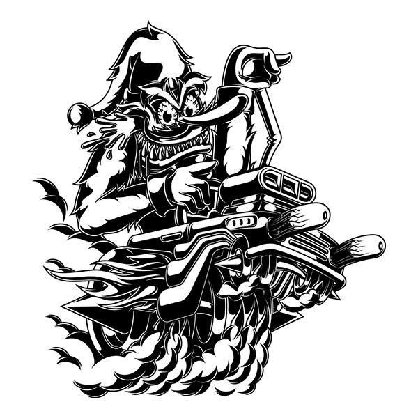 B/W Vector Artworks on Character Design Served