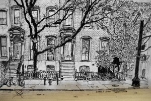 york drawings drawing ink nyc behance sketches micron west village chinatown downtown pens street couple paintingvalley patience tested cobble capabilities