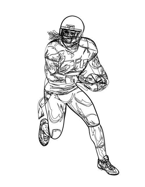 Russell Wilson Football Coloring Pages Coloring Pages