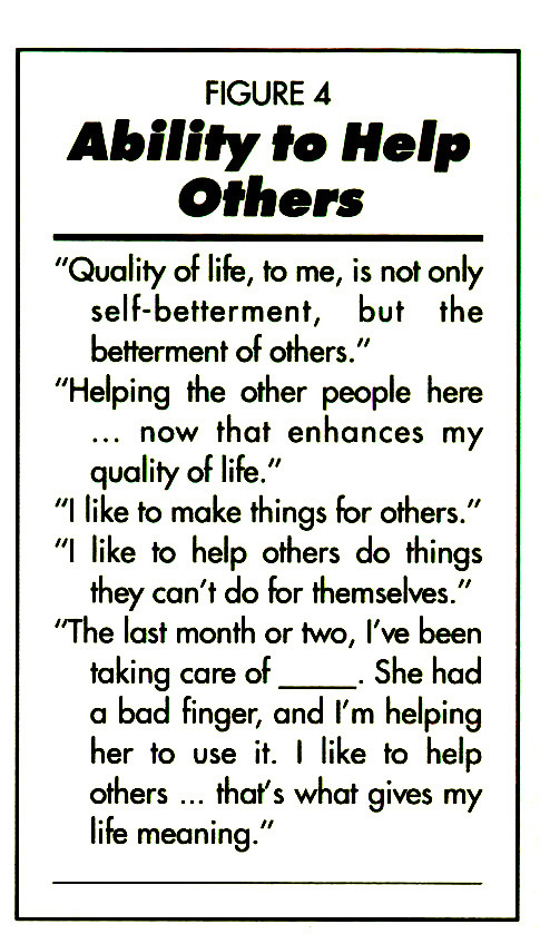 QUALITY OF LIFE: Its Meaning to the Long-Term Care Resident