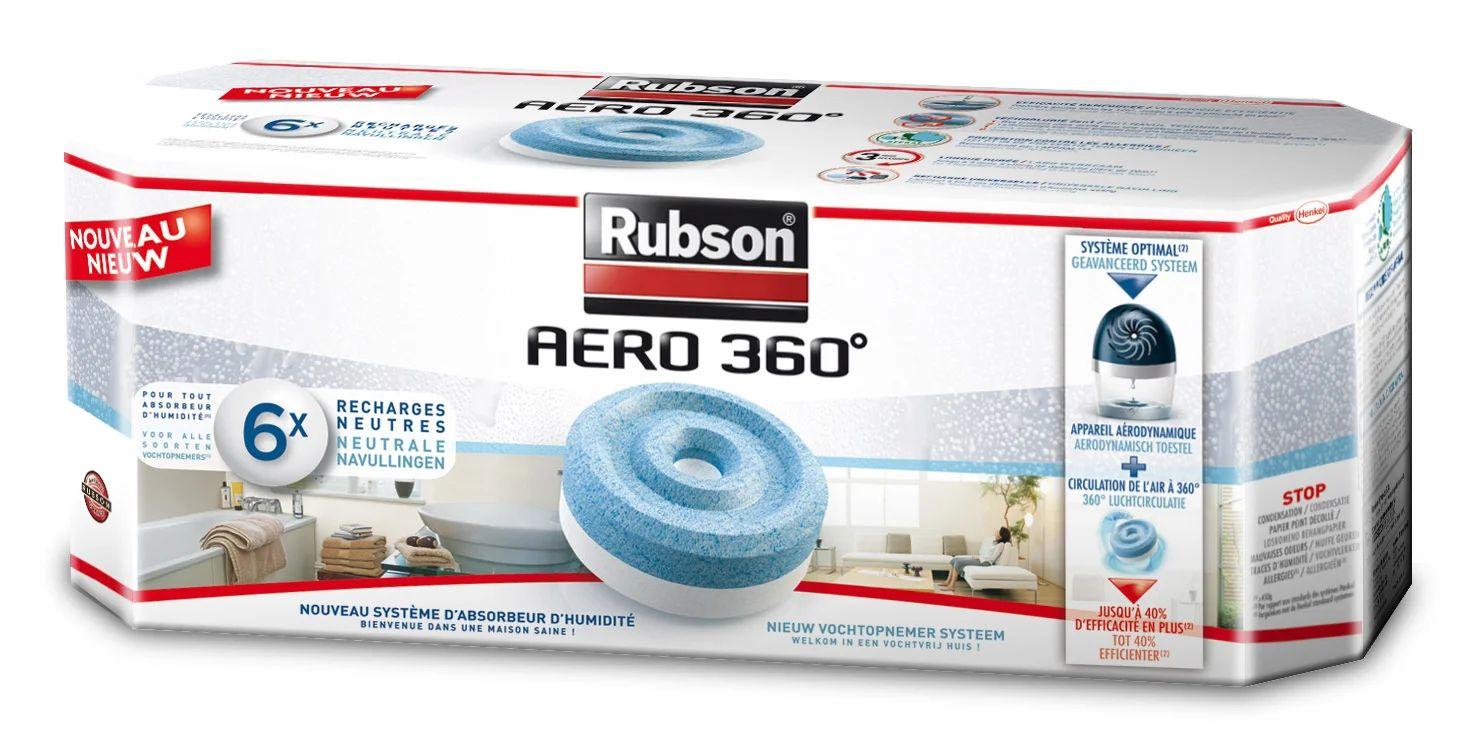 Rubson Aero 360 Lot De 6 Recharges Tablette Pour Absorbeur D Humidite 20 M Leroy Merlin