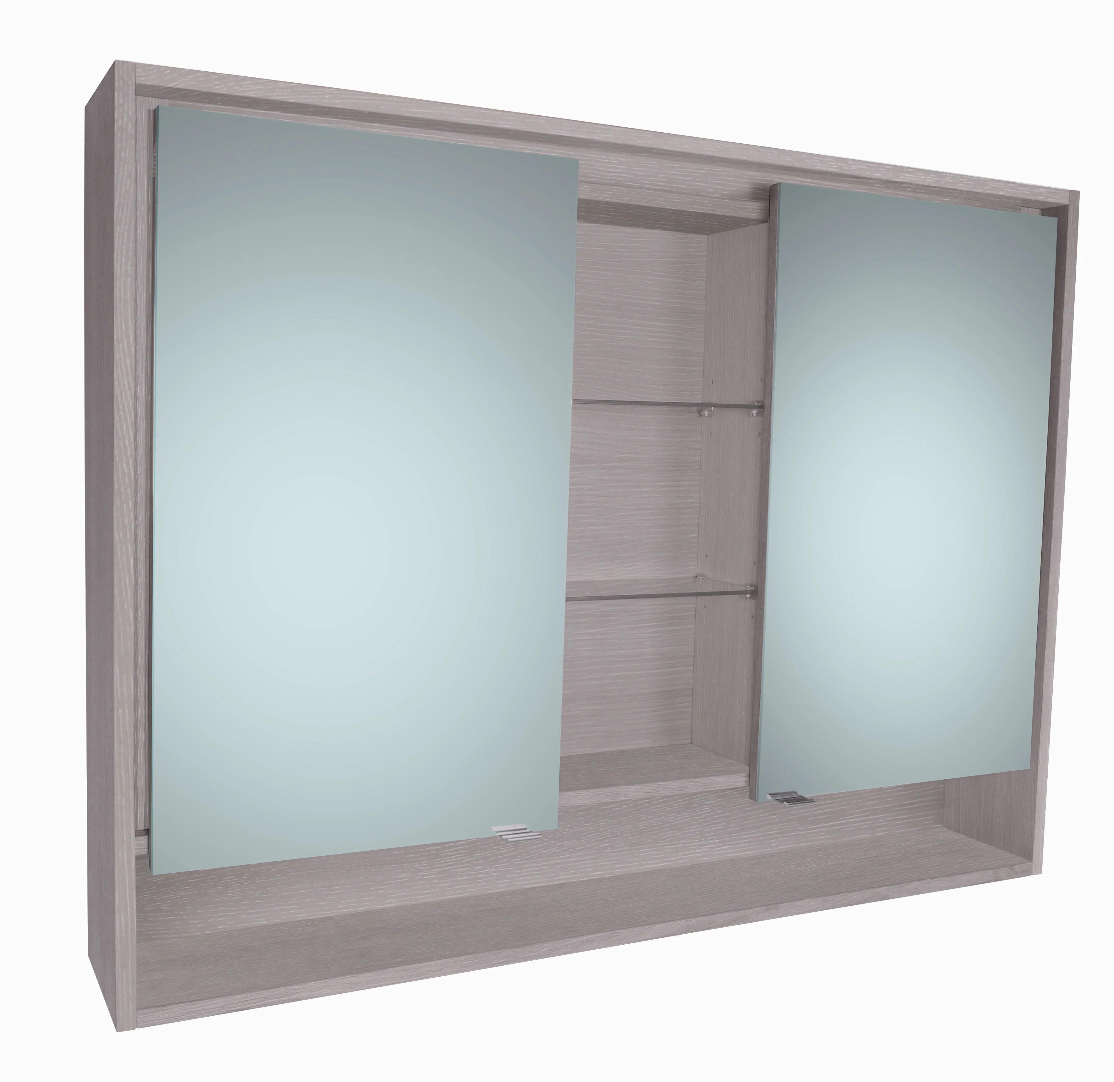 Armoire De Toilette Lumineuse L 120 Cm Gris Structure Sensea Nordic Leroy Merlin