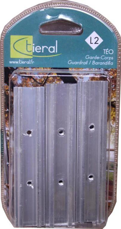 Lot De 5 Liaisons De Lisse Tieral Aluminium Gris H 10 X L 2 2 Cm Leroy Merlin