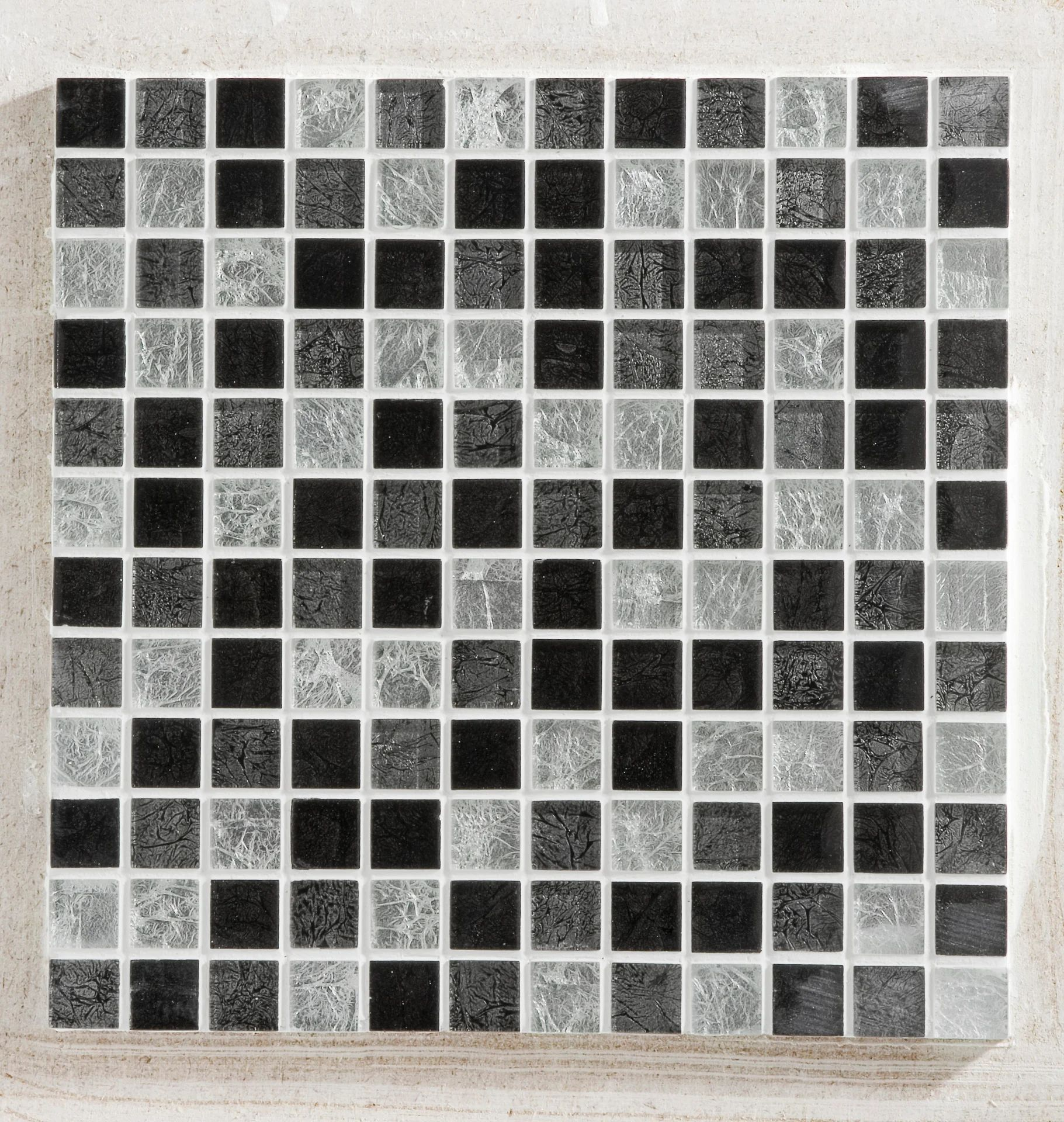 Mosaique Mur Glass Select Gris 2 5 X 2 5 Cm Leroy Merlin