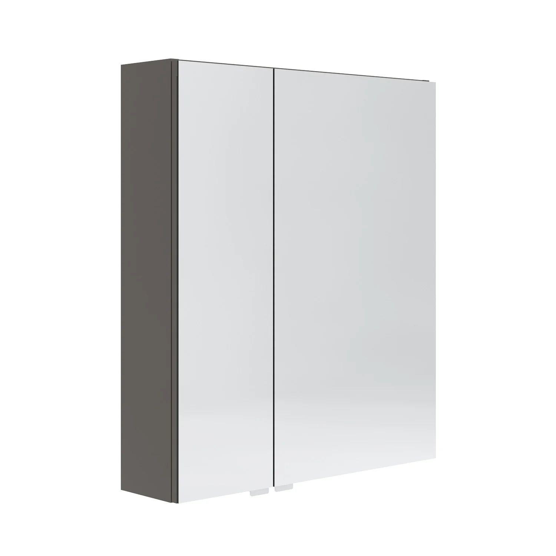 Armoire De Toilette L 60 Cm Gris Opale Leroy Merlin