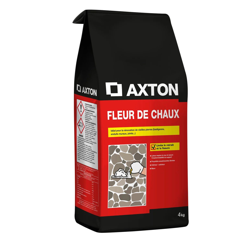 Fleur De Chaux Poudre Blanc Axton 4 Kg Leroy Merlin