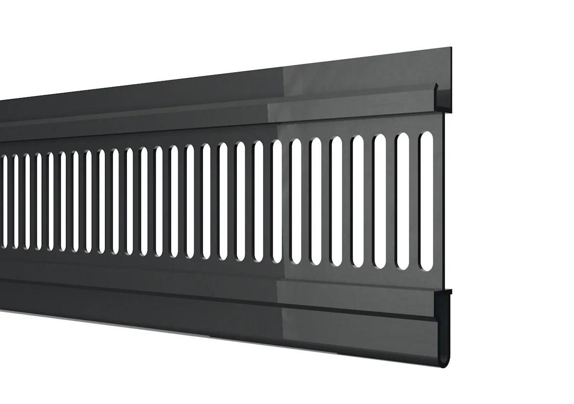 grille de ventilation de toiture anthracite pvc l 3 m