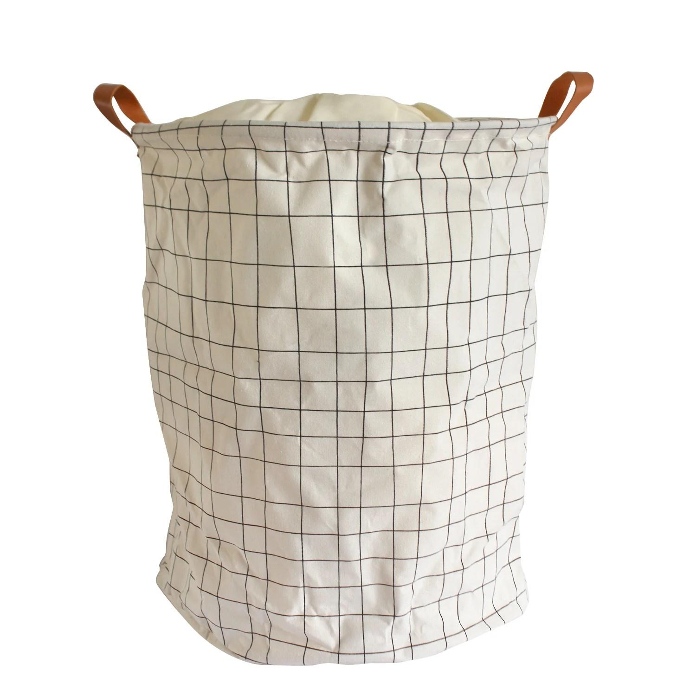 Panier A Linge Textile Pop Up School Beige L 40 X H 50 X P 40 Cm Leroy Merlin
