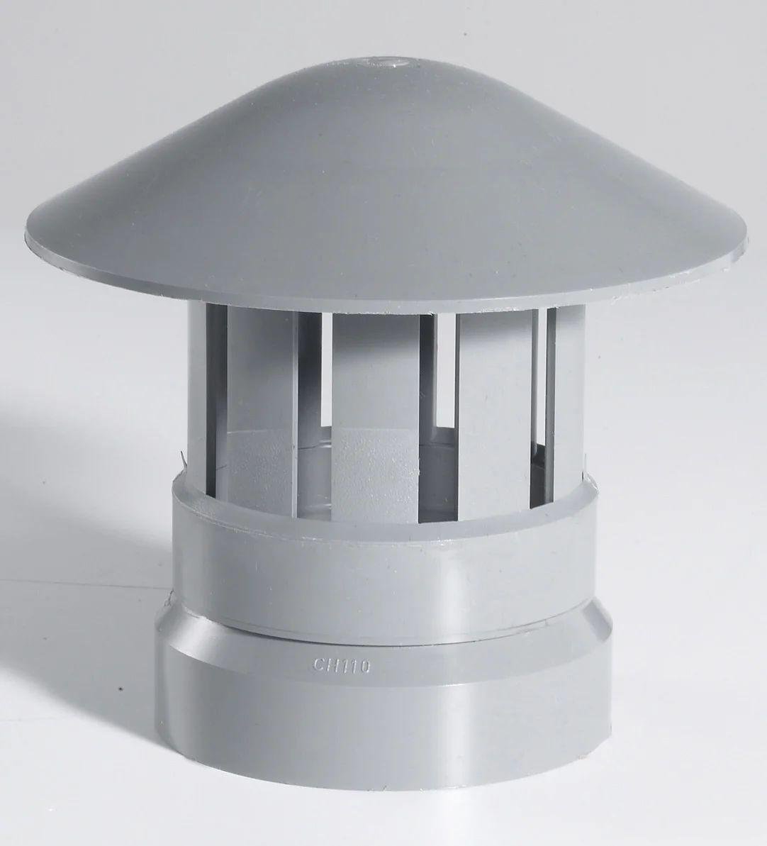 Chapeau De Ventilation Femelle Pvc Gris Girpi Diam 110 Mm Leroy Merlin