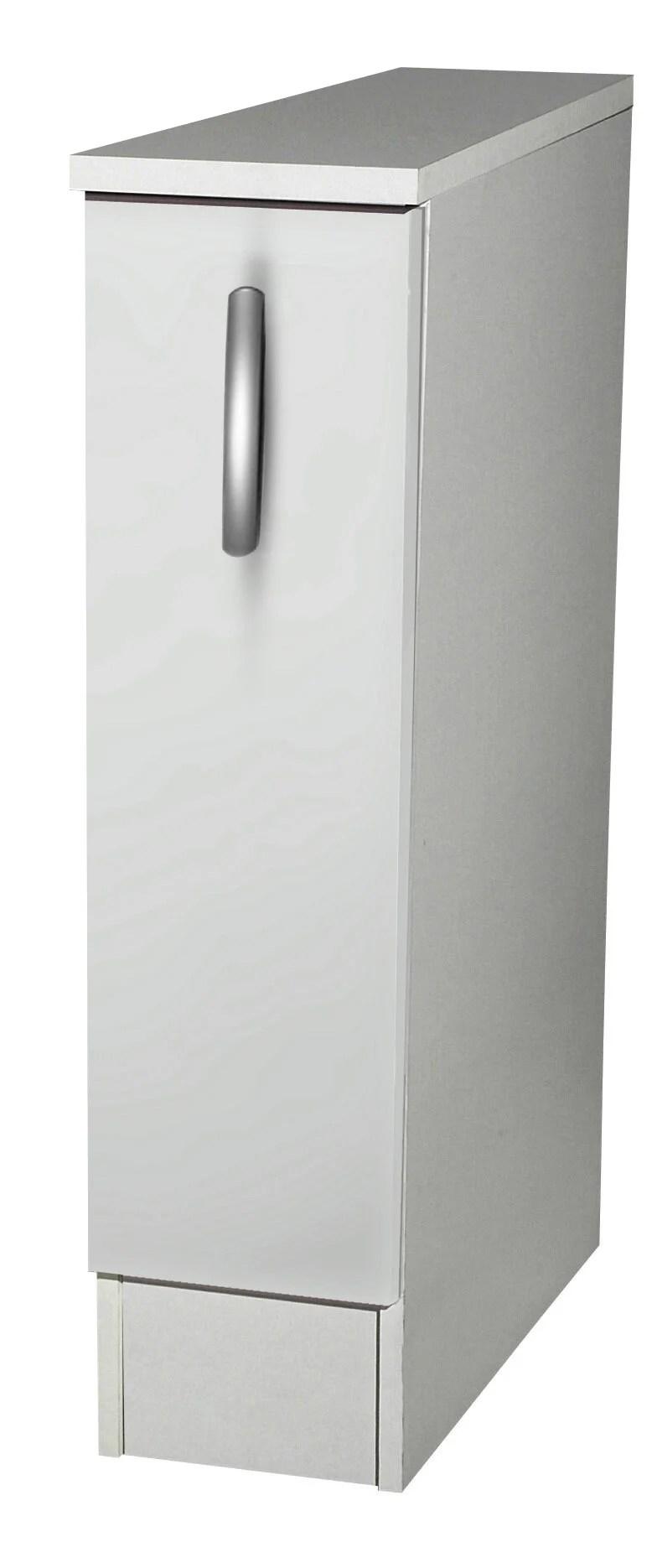 Meuble De Cuisine Bas 1 Porte Blanc H86x L15x P60cm Leroy Merlin