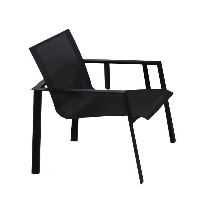 fauteuil de jardin en aluminium miami gris