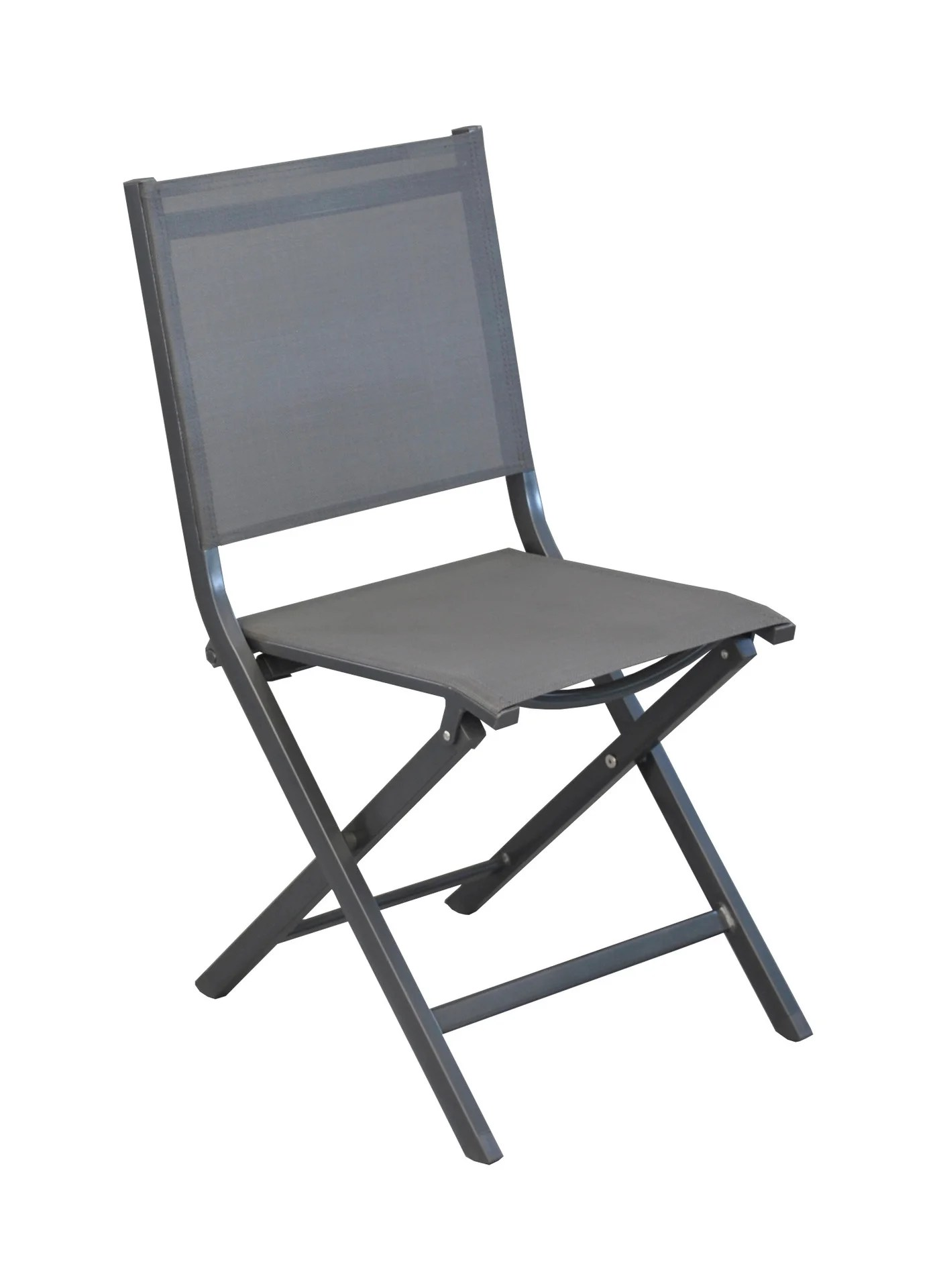chaise de jardin aluminium gris leroy