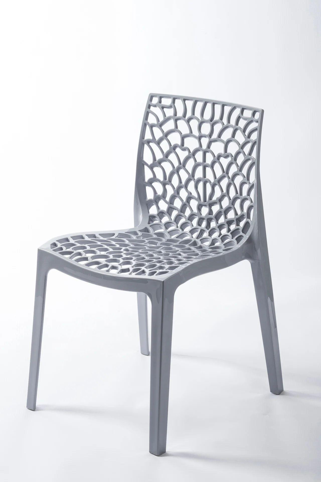 chaise de jardin en resine grafik gris perle