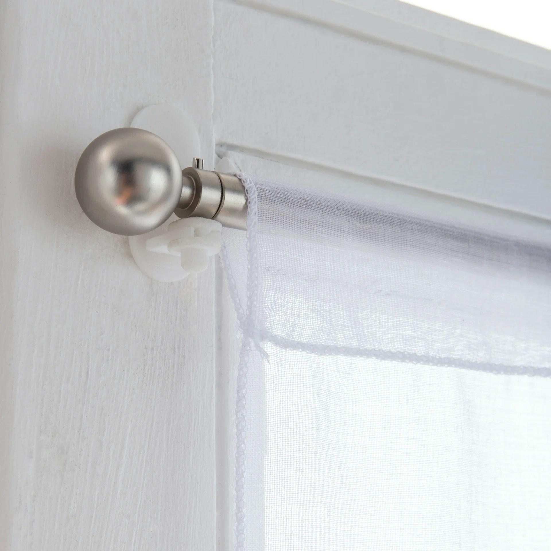 lot de 2 supports sans percage barre de vitrage petite fenetre 8 mm transparent