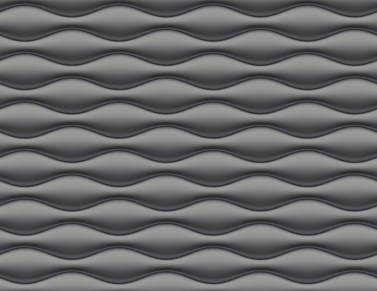 papier peint vinyle 3d vague noir