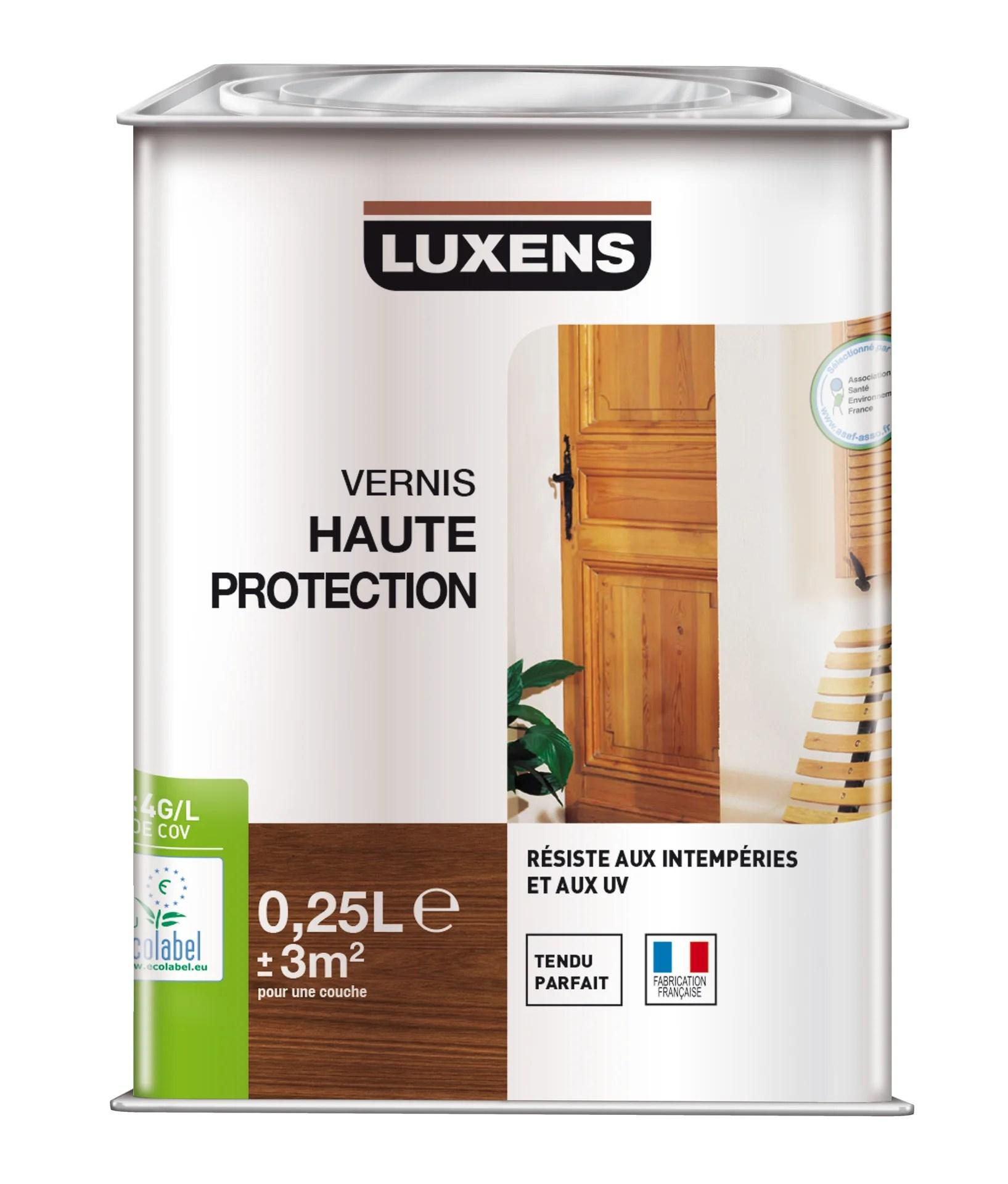 vernis bois exterieur luxens haute protection chene clair satine 0 25 l