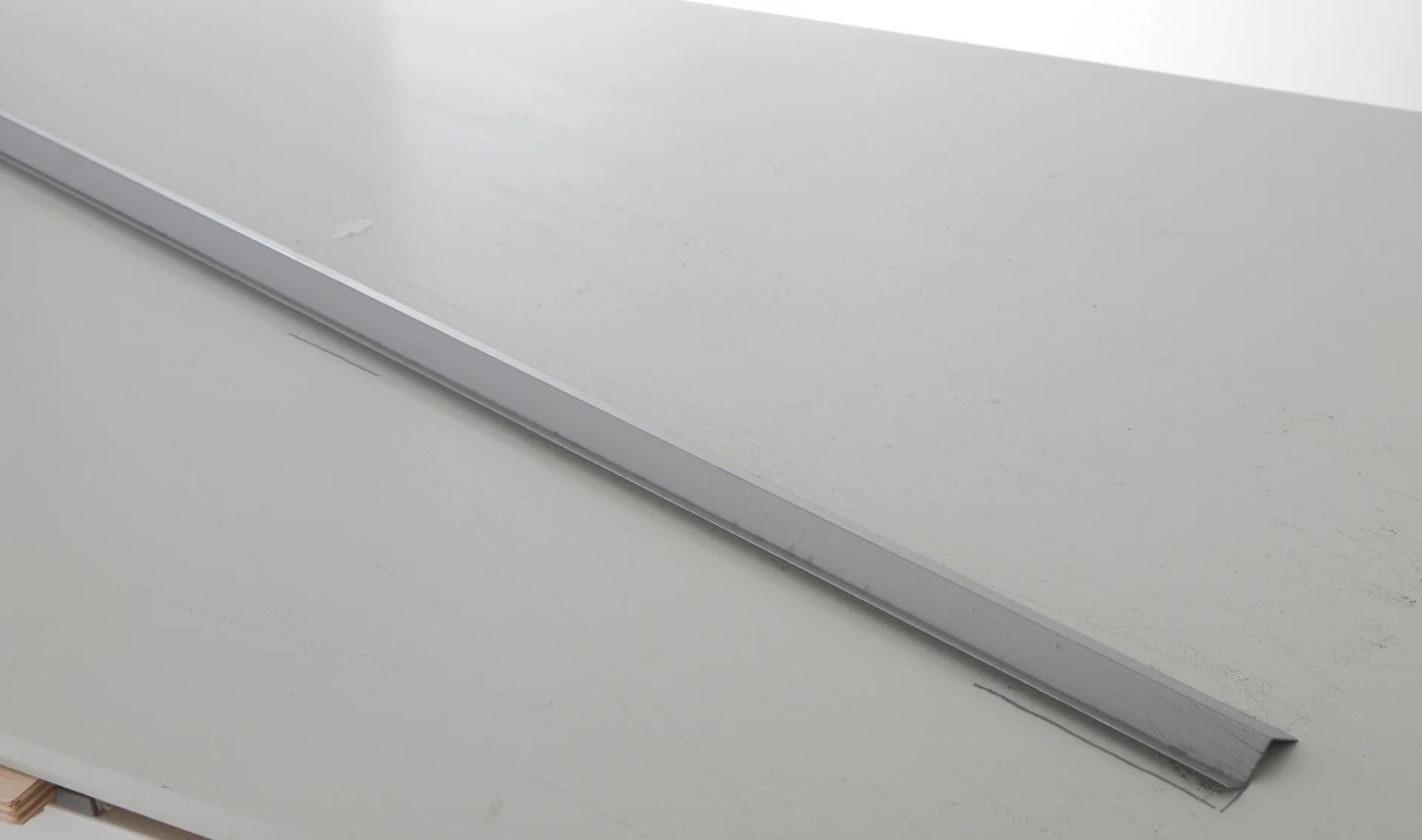 goutte d eau acier galvanise 20 x 45 scover plus gris l 2 m