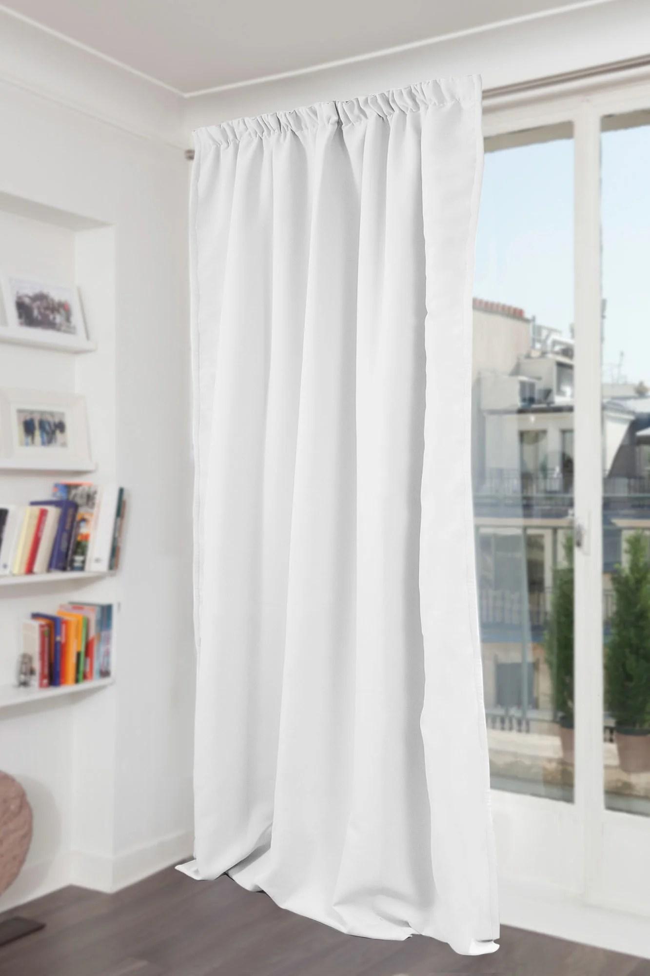 rideau occultant thermique et phonique blanc l 145 x h 300 cm moondream