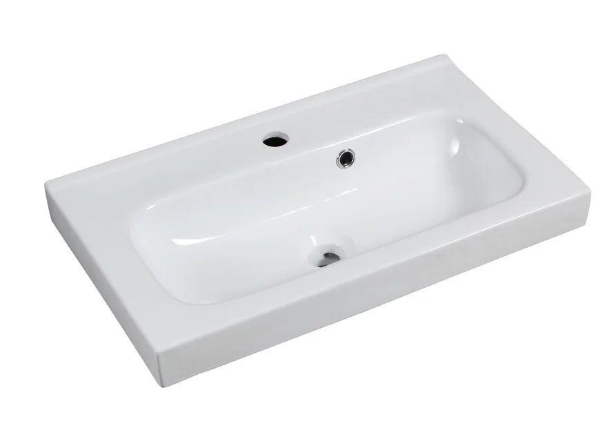 plan vasque simple ceramique l 61 x p 35 cm