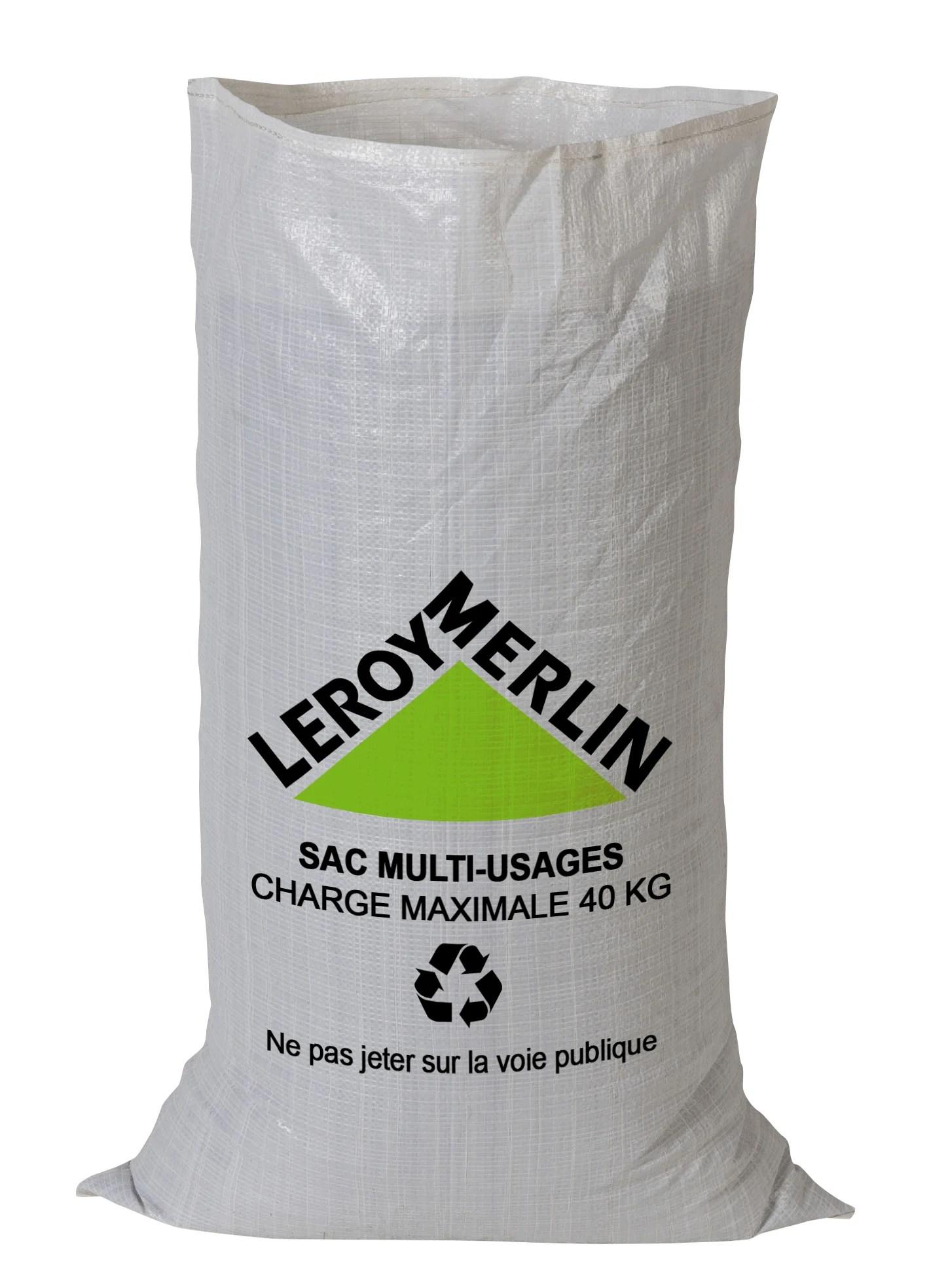 Lot De 5 Sacs A Gravats 60 L Leroy Merlin
