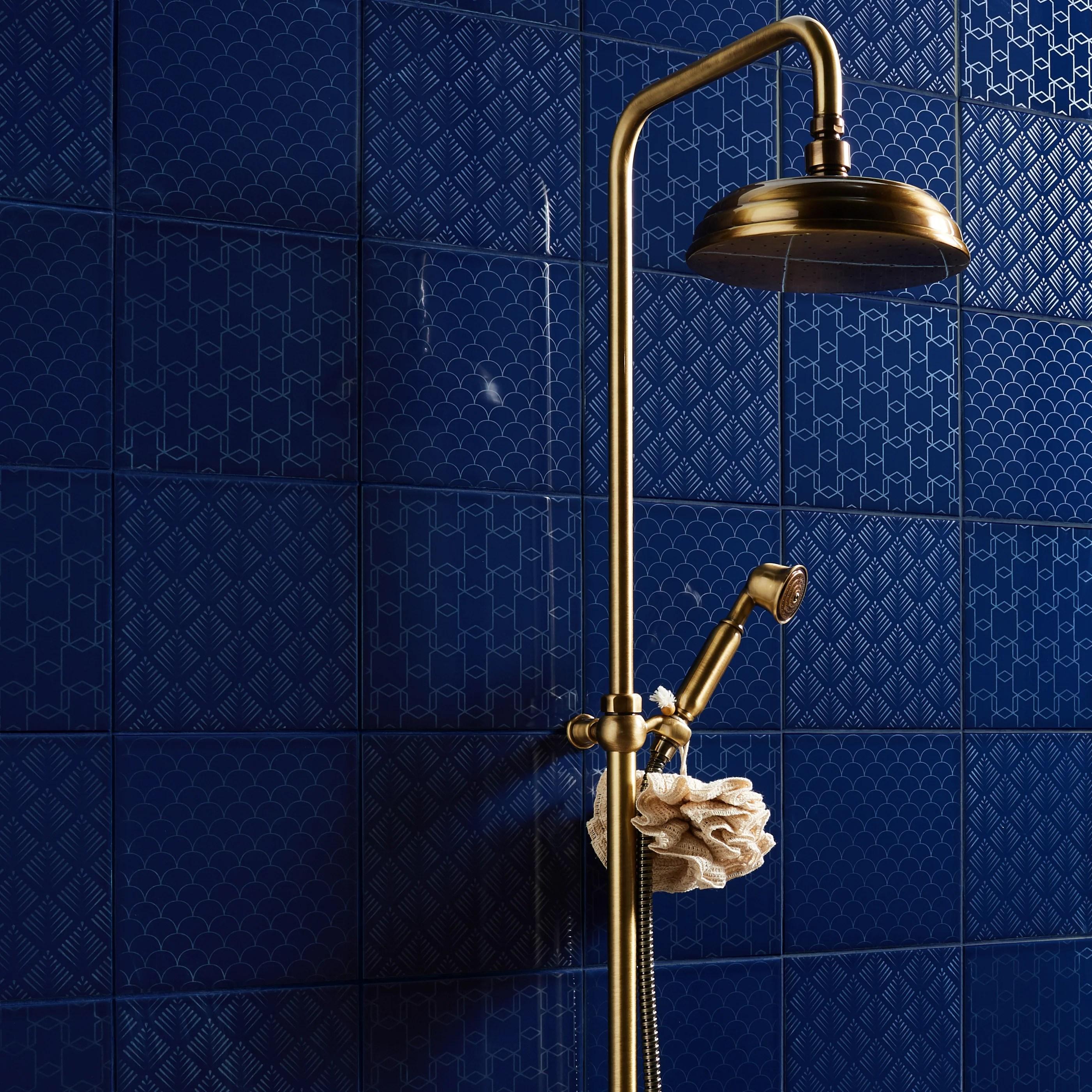 mur forte bleu nuit brillant l 19 7 x