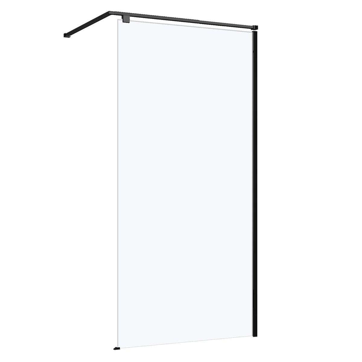 paroi de douche a l italienne l 80 cm verre transparent 8 mm eliseo