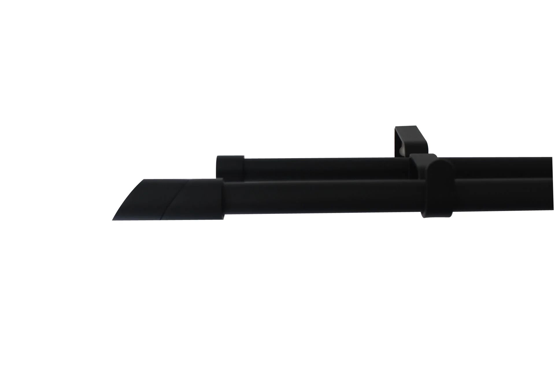 kit de tringle a rideau double twin diam 16 19 mm noir mat 120 a 210 cm