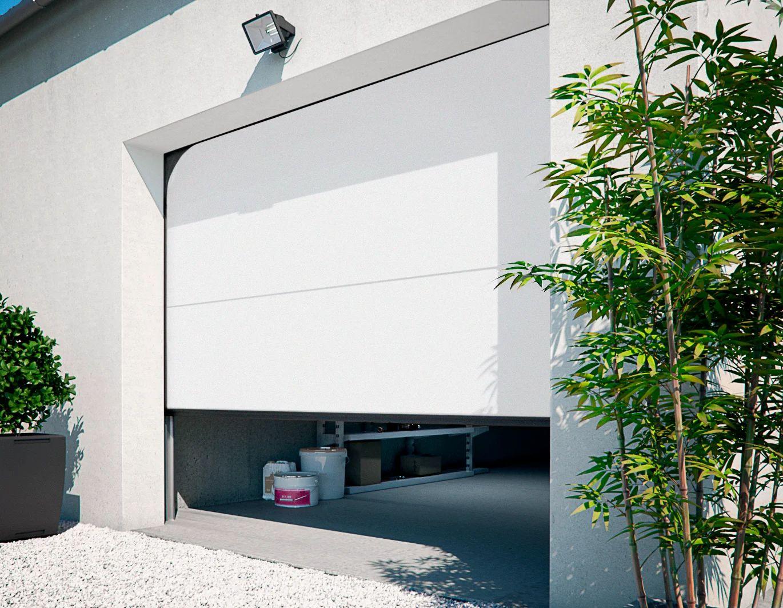 Porte De Garage Sectionnelle Motorisee Primo H 200 X L 240 Cm Leroy Merlin