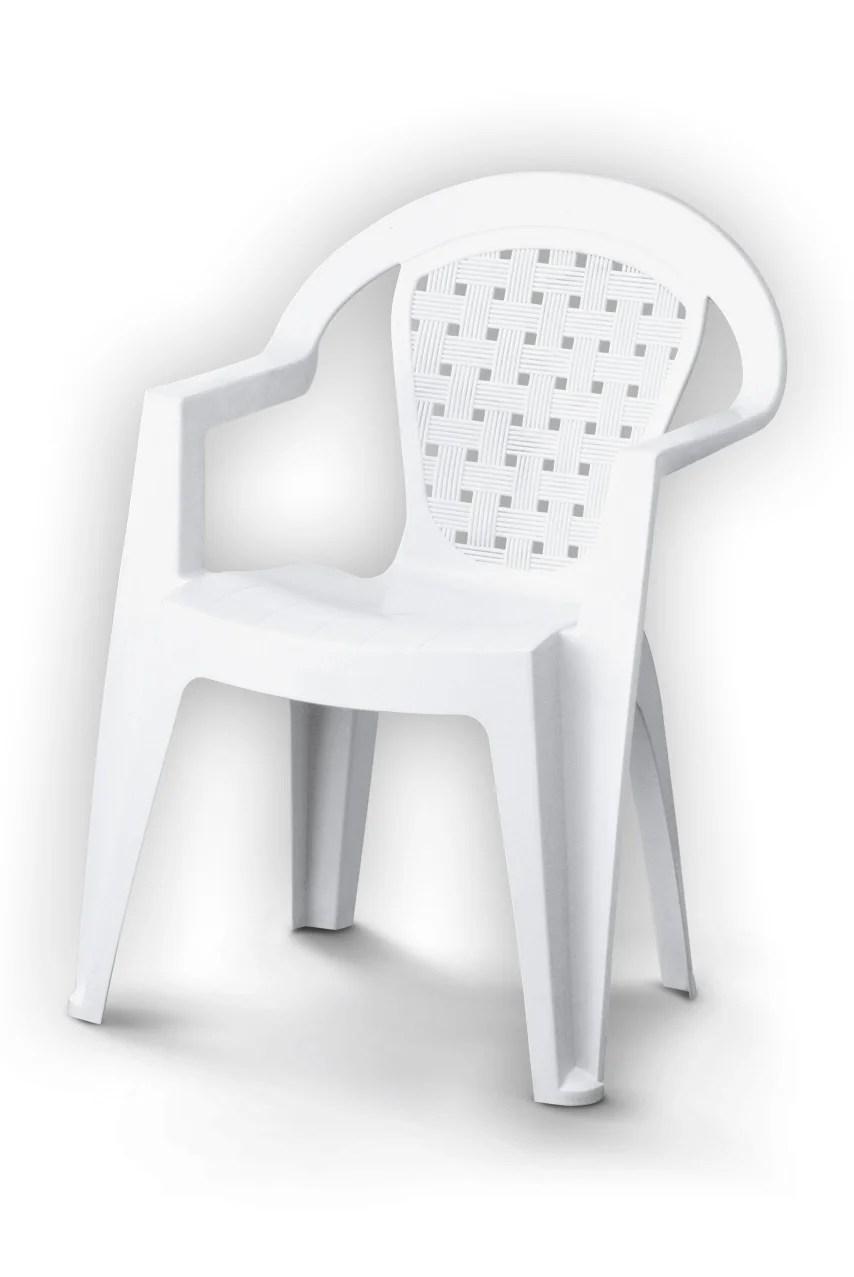 fauteuil de jardin en resine injectee norma blanc