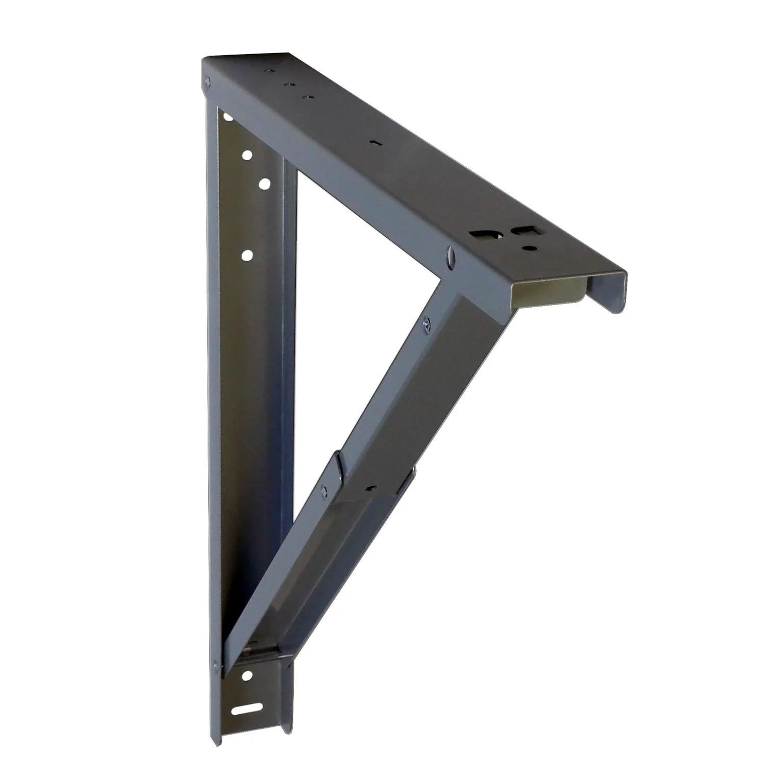 support pour table rabattable aluminium l 40 7 x l 40 cm