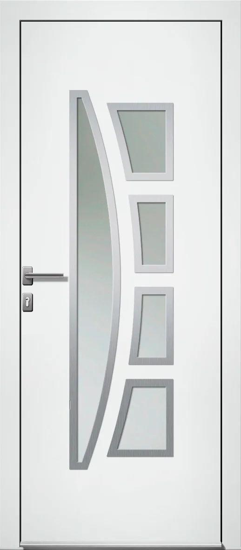 Porte D Entree Alu Riwa Premium H 215 X L 90 Cm Vitree Blanc Poussant Gauche Leroy Merlin