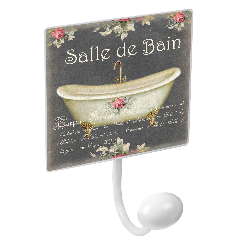 Portemanteau Nesu Salle De Bain 1 Patere A Visser Metal Blanc Leroy Merlin
