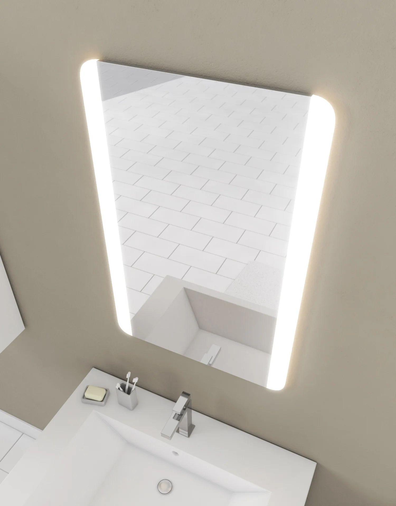 Miroir Lumineux Avec Eclairage Integre L 45 X H 70 Cm Tantra Leroy Merlin