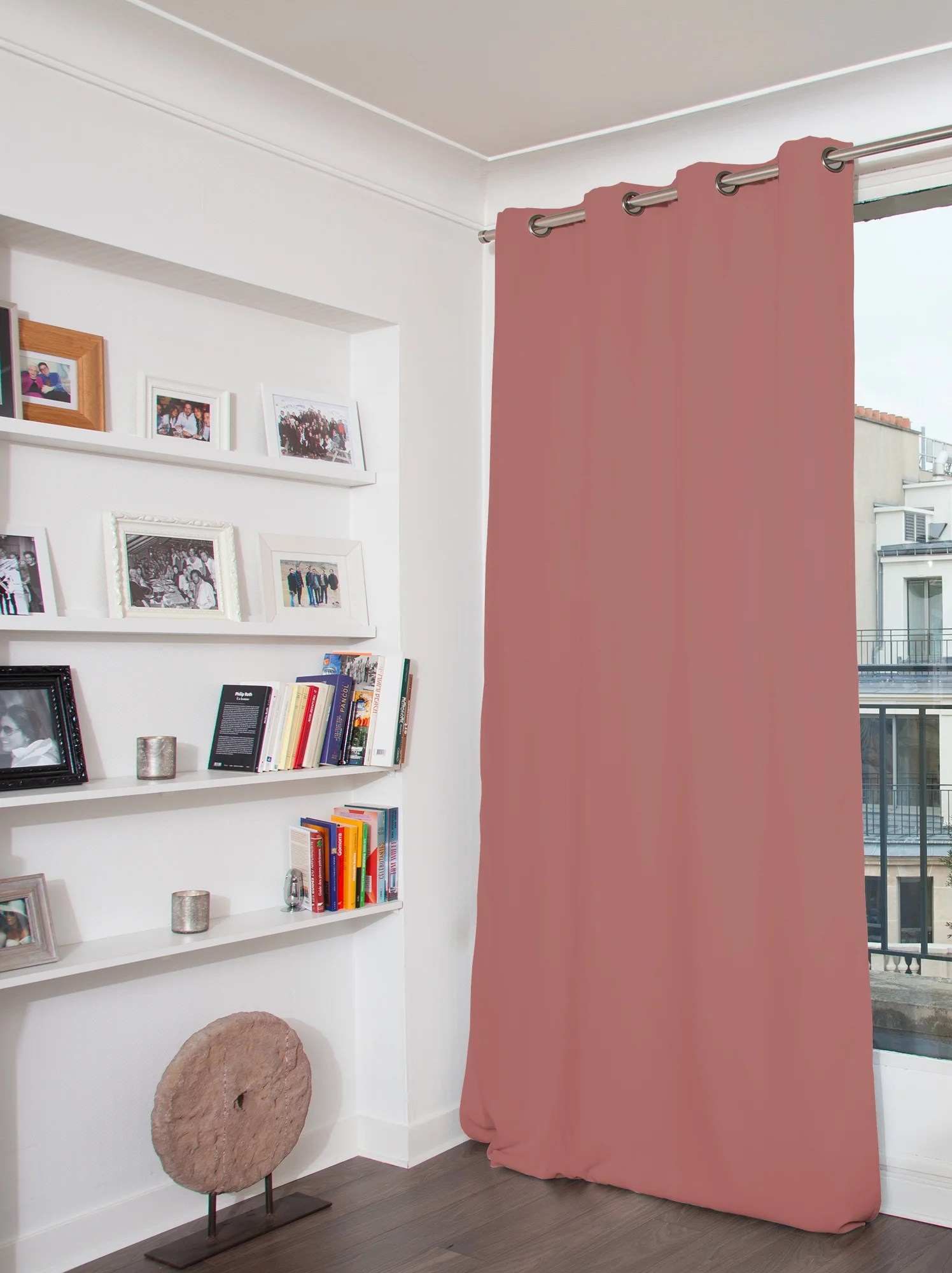 rideau occultant velours venise vieux rose l 135 x h 260 cm moondream