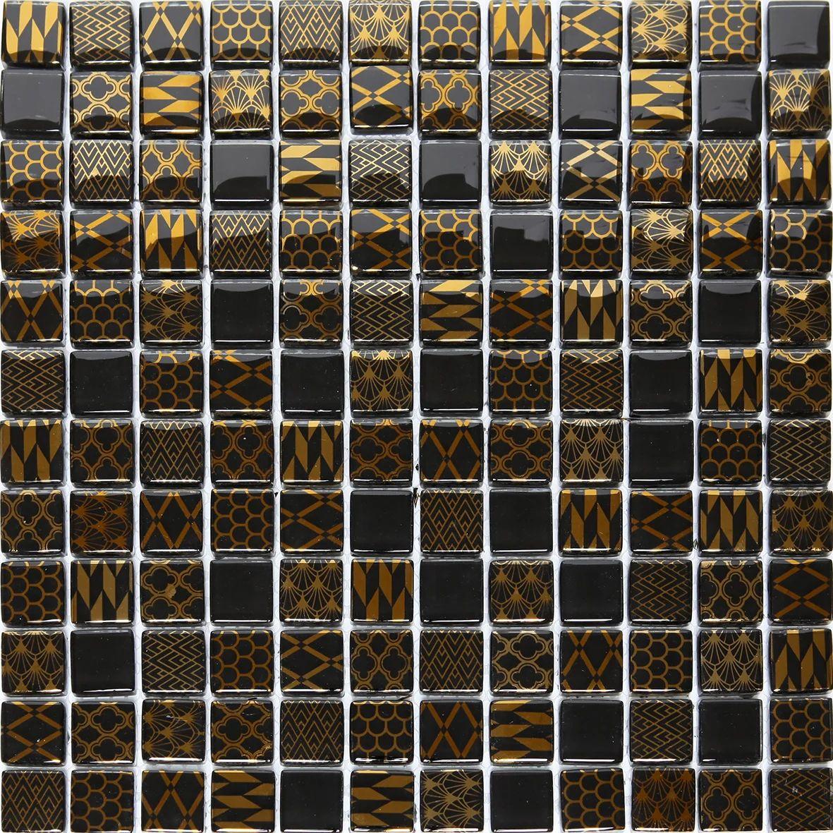 Mosaique Mur Glam Noir 30 X 30 Cm Artens Leroy Merlin