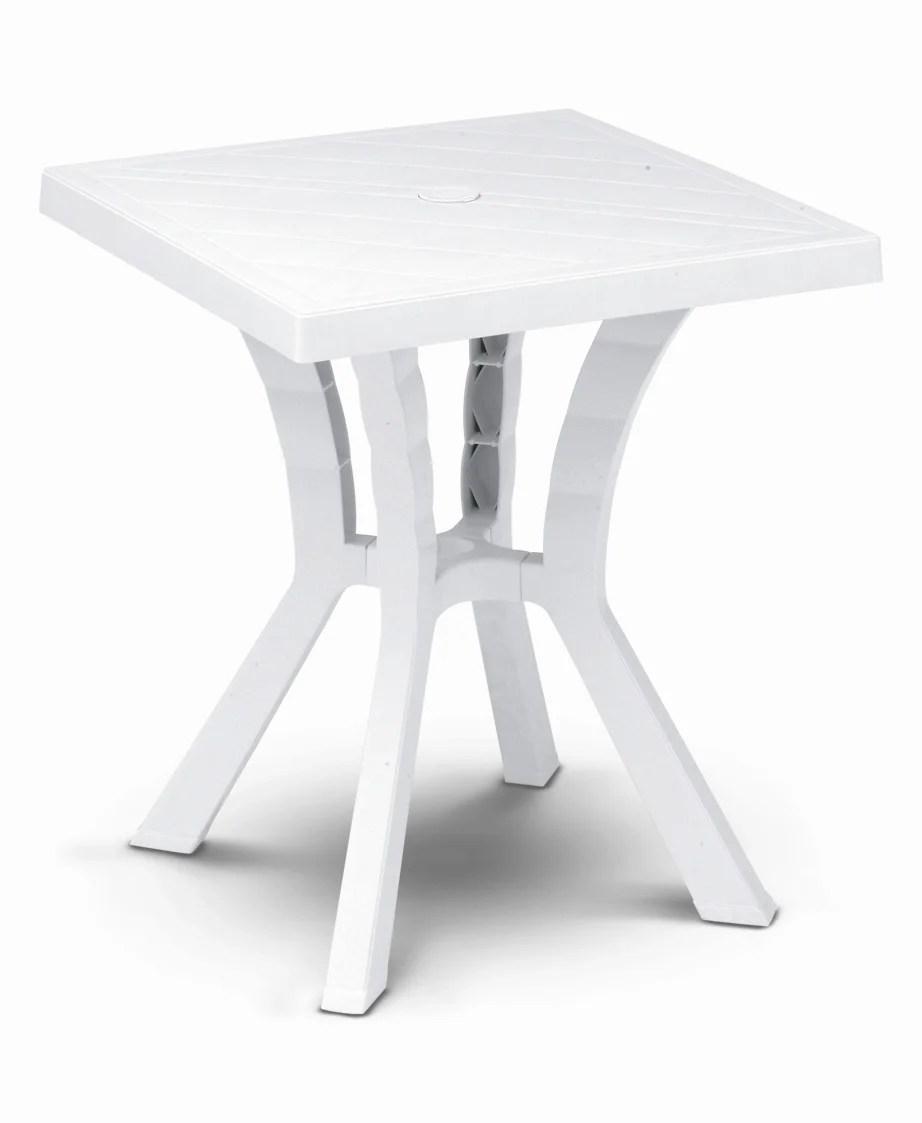 table de jardin de repas rigoletto carree blanc 4 personnes
