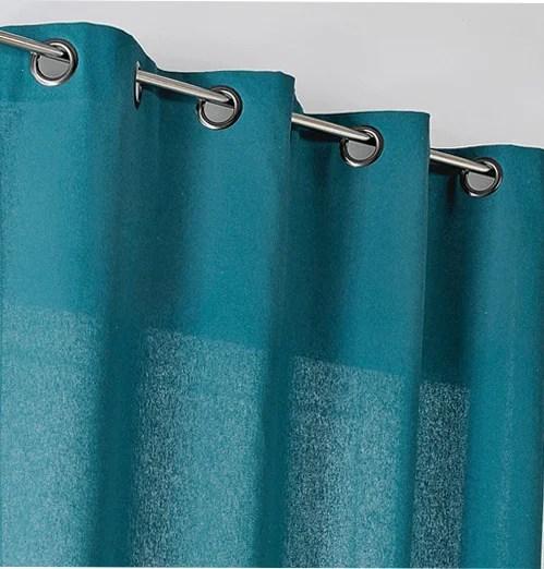 rideau tamisant metis bleu canard l 135 x h 260 cm linder