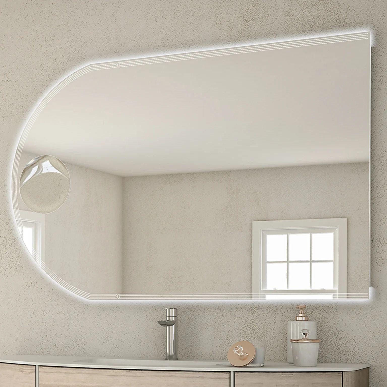 Miroir Lumineux Avec Eclairage Integre L 120 X H 80 Cm Led Leroy Merlin