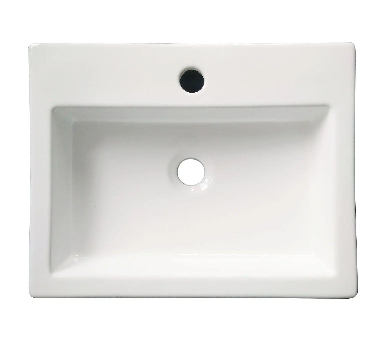 Vasque A Poser Ceramique Ico L 48 X P 38 Cm Blanc Leroy Merlin