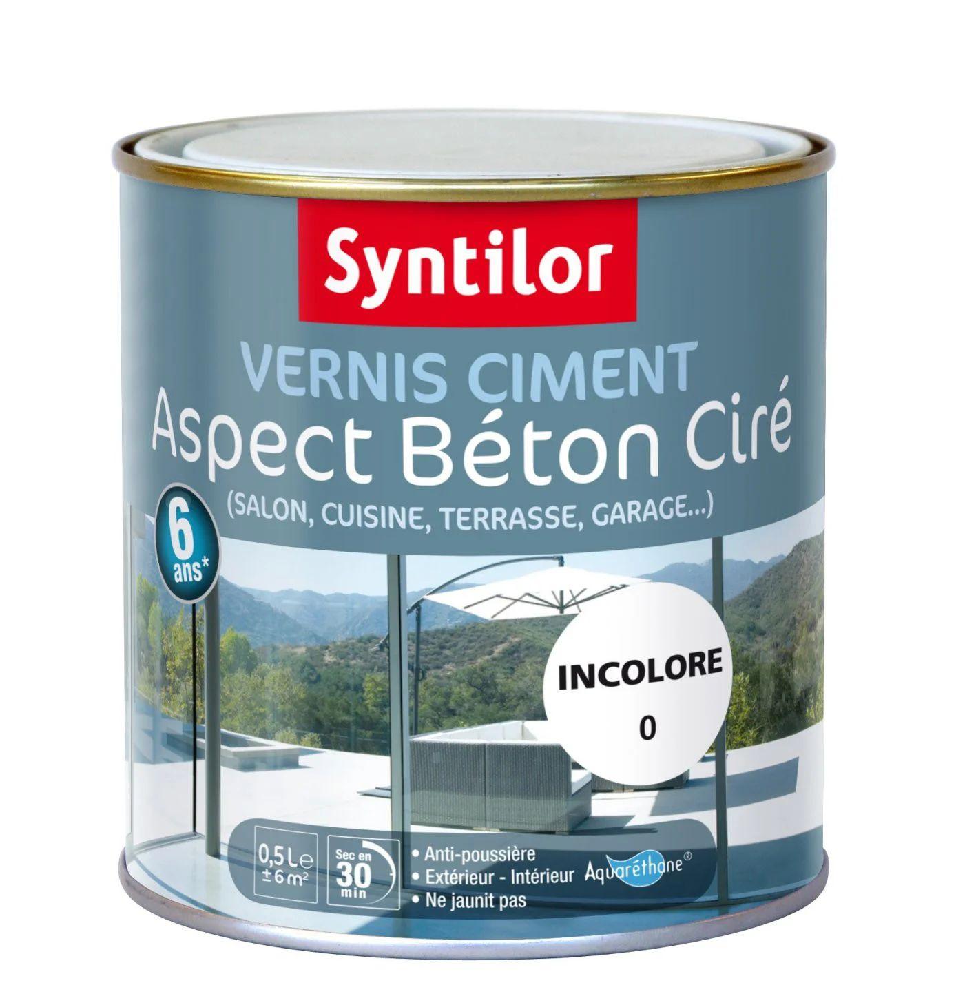 Vernis Ciment Exterieur Interieur Ciment Syntilor Incolore 0 5 L Leroy Merlin