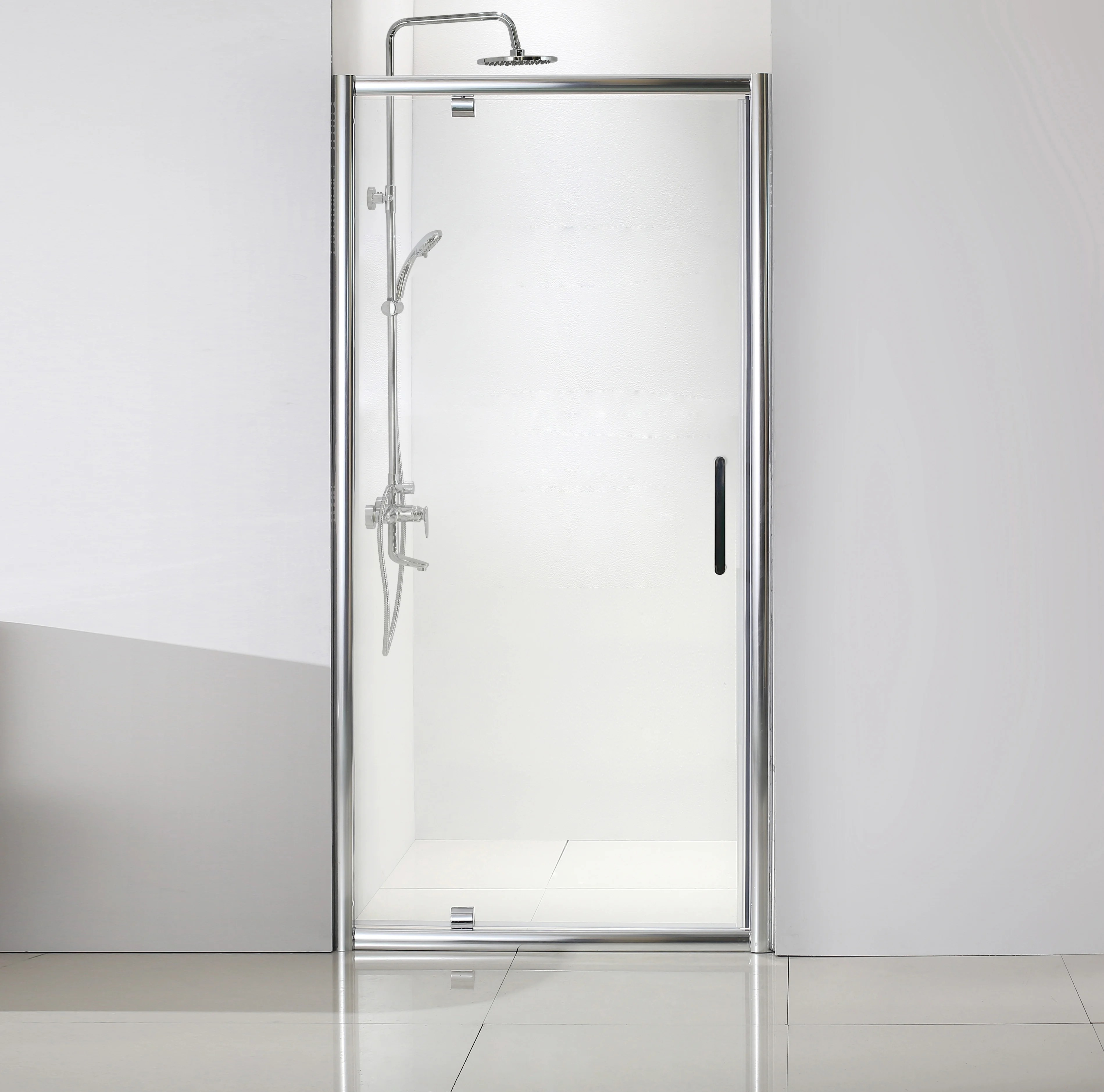 porte de douche pivotante transparent chrome 90 cm quad