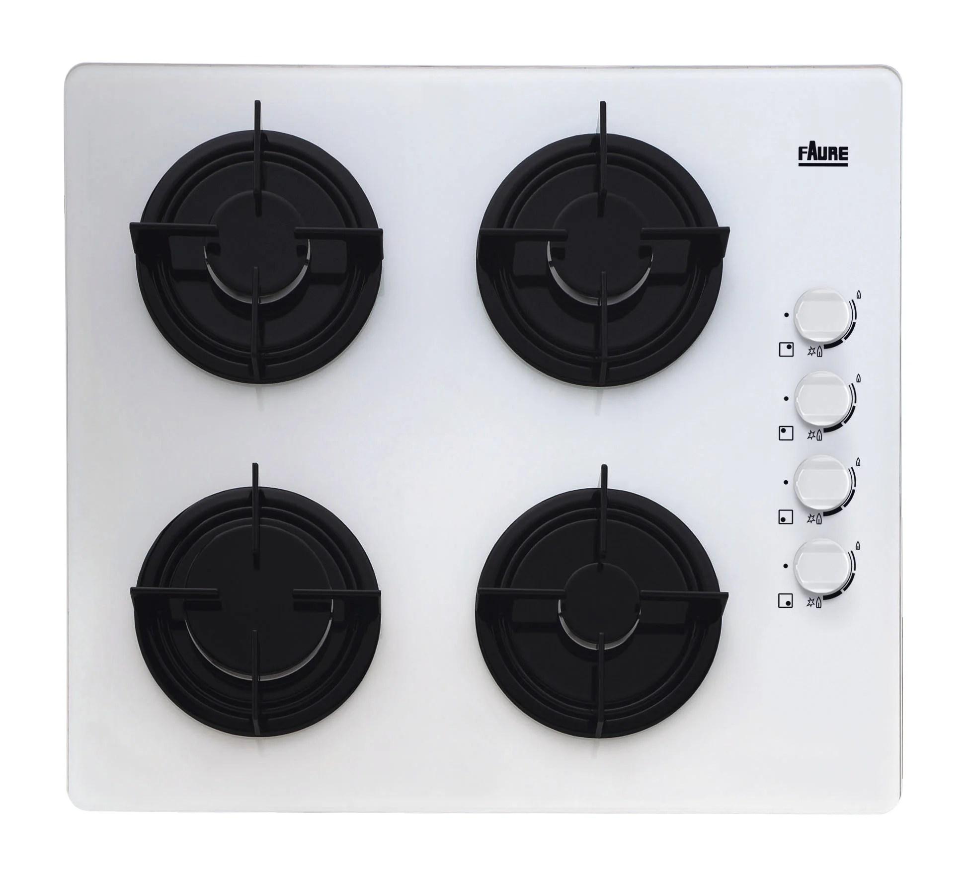 plaque de cuisson gaz 4 foyers blanc