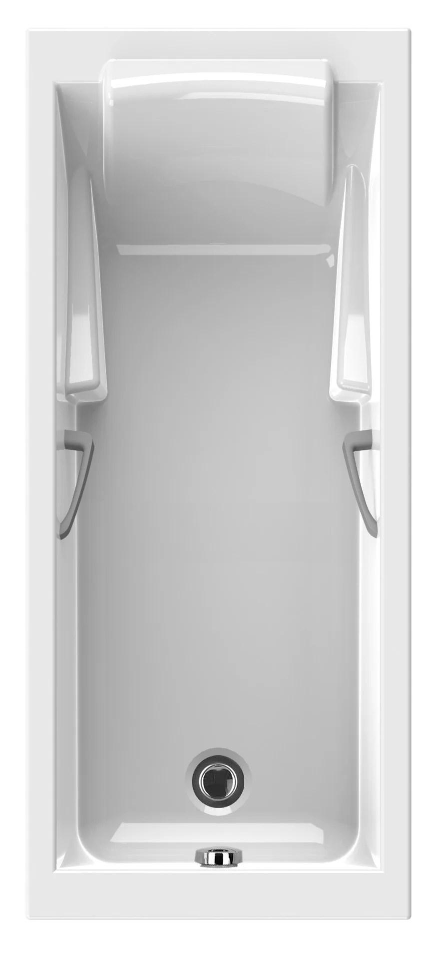 baignoire rectangulaire l 170x l 70 cm blanc sensea premium confort