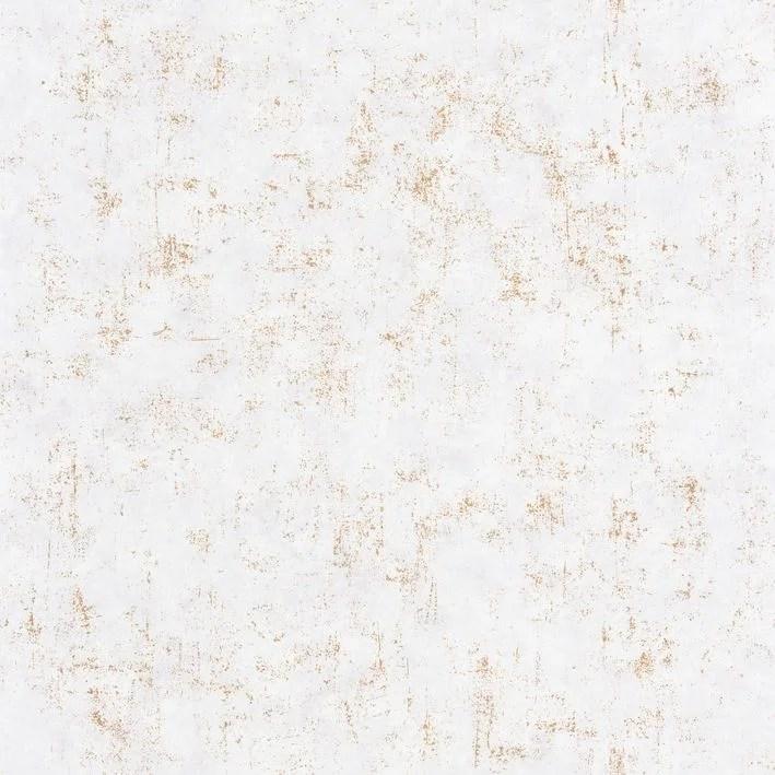 papier peint beton uni blanc or