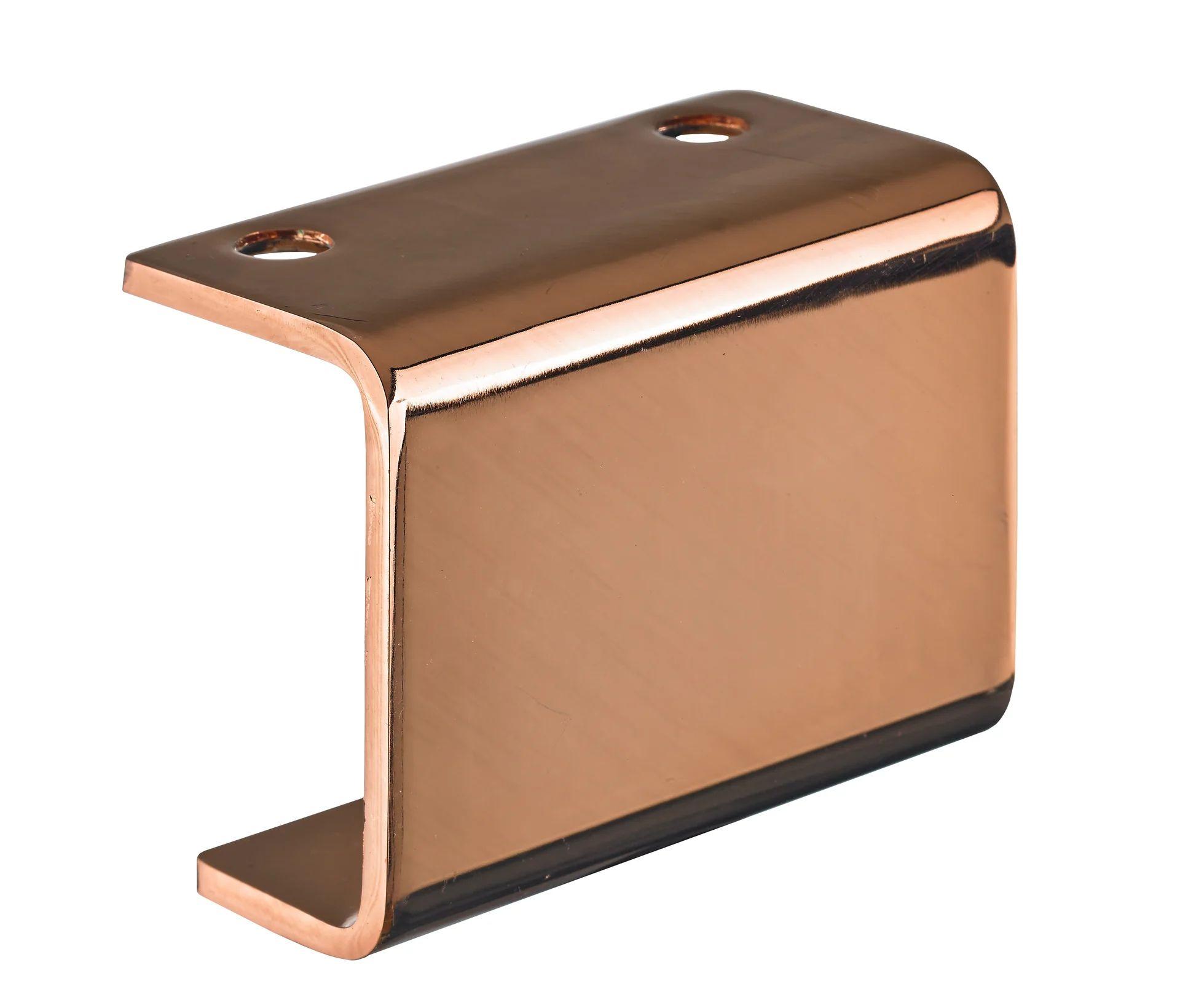 pied pour meuble table basse design fixe a visser acier cuivre 7cm