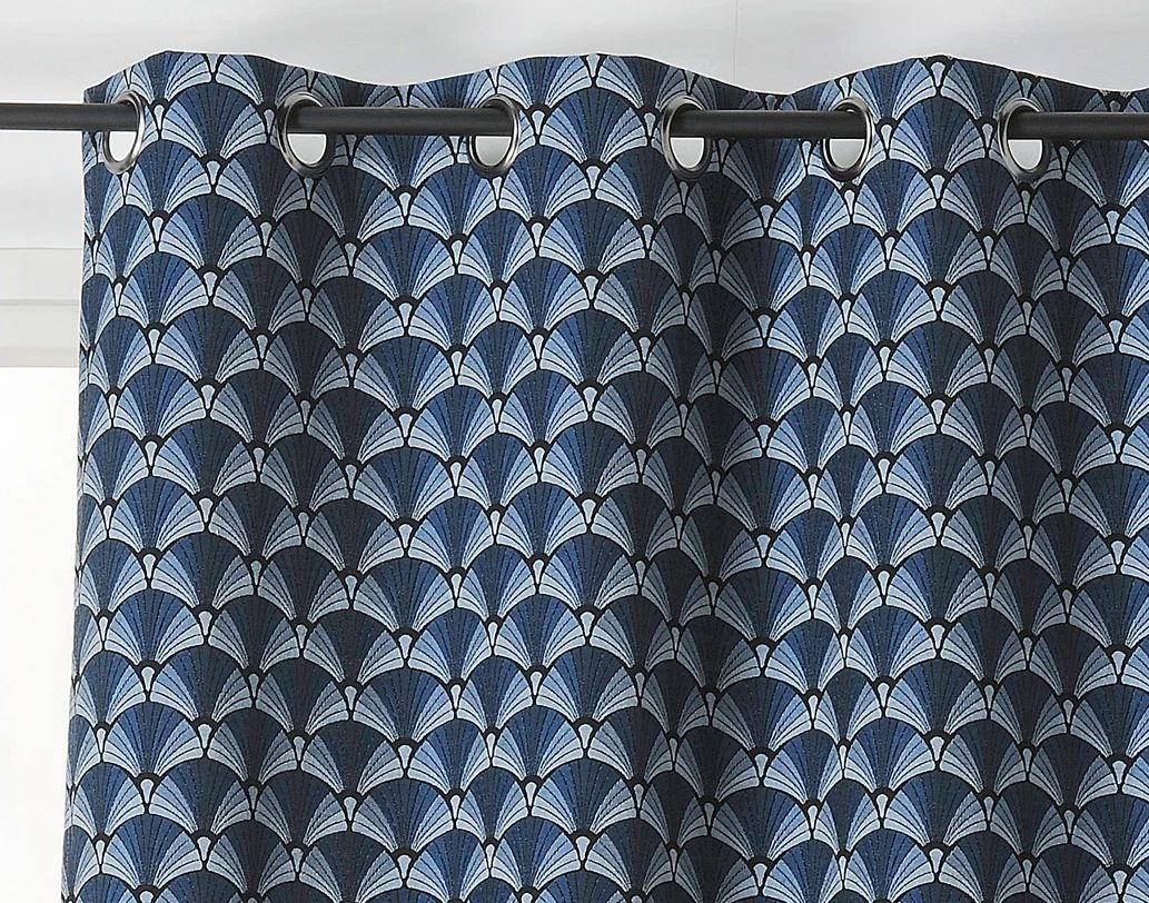 rideau tamisant galice bleu l 135 x h 240 cm linder