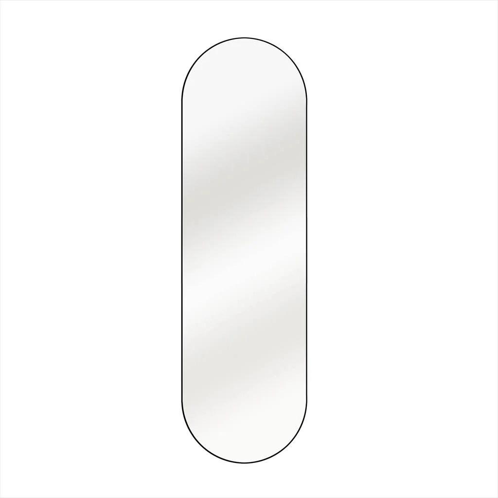 Miroir Ovale Oblong Noir L 40 X H 140 Cm Leroy Merlin